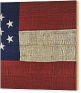 Original Stars And Bars Confederate Civil War Flag Wood Print by Daniel Hagerman