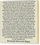 Original Desiderata Poem Wood Print