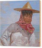 Original Oil Painting - Chinese Woman#16-2-5-26 Wood Print