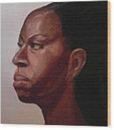 Original Portrait In Oil Wood Print
