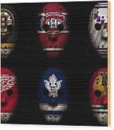 Original Six Jersey Mask Wood Print