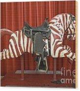 Original Zebra Carousel Ride Wood Print