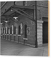 Oriole Park Box Office Bw Wood Print