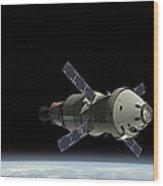 Orion Service Module Wood Print