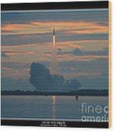 Orion Test Flight Wood Print