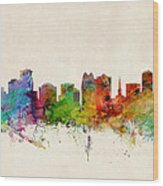 Orlando Florida Skyline Wood Print