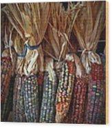 Ornamental Corn Wood Print