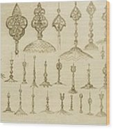 Ornamental Knobs Shaped As Domes Wood Print