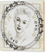 Ornamental Marilyn Wood Print