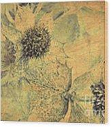 Ornamental Thistle Flower Wood Print