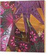 Ornamented Stars Wood Print
