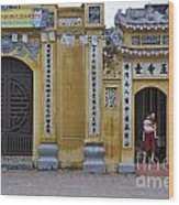Ornate Buildings In The City Centre Of Hanoi Wood Print