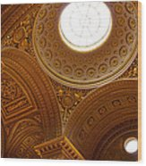 Ornate Ceiling Of Versailles Wood Print