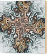 Ornate Cross Wood Print by Anastasiya Malakhova