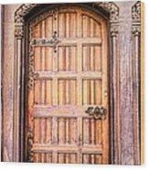 Ornate Door Wood Print