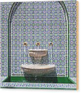 Ornate Fountain - Oman Wood Print