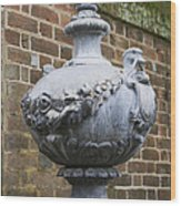 Ornate Garden Urn Wood Print