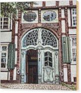 Ornate German Door Wood Print