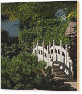 Ornate White Stone Bridge  Wood Print