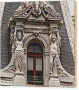 Ornate Window Of City Hall Philadelphia Wood Print