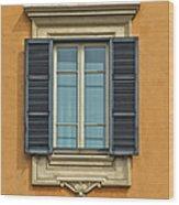 Ornate Window Of Rome Wood Print