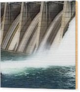 Oroville Dam Unleashed Wood Print
