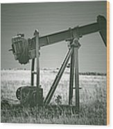 Orphans Of The Texas Oil Fields Wood Print by Christine Till