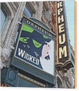 Orpheum Sign Wood Print