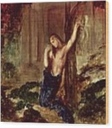 Orpheus At The Tomb Of Eurydice Wood Print