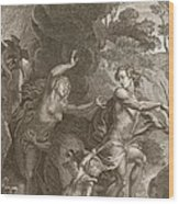 Orpheus, Leading Eurydice Out Of Hell Wood Print