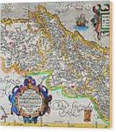 Ortelius Map Of Portugal Porvgalliae Geographicus Portugalliae Ortelius 1587 Wood Print