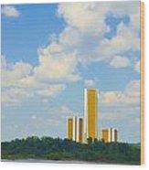 Oru River Skyline II Wood Print