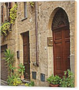 Orvieto Homes Wood Print