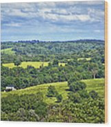 Osage County Lookout Wood Print