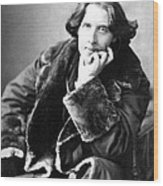 Oscar Wilde In His Favourite Coat 1882 Wood Print
