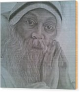 Osho Wood Print by Milind Badve