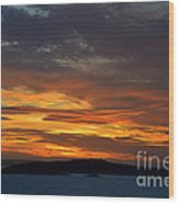Oslo Fjord At Sunset Wood Print