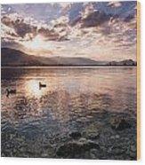 Osoyoos Lake Sunset Wood Print