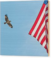 Osprey Flag Wood Print