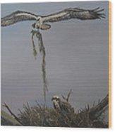 Ospreys Together Wood Print