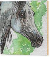 Ostragon Polish Arabian Horse Painting 1 Wood Print