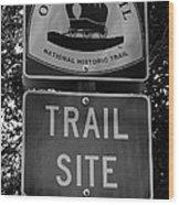 Oregon Trail Sign A Wood Print