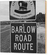 Barlow Road Cutoff Sign Wood Print