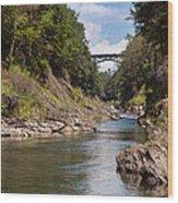 Ottauquechee River Flowing Through The Quechee Gorge Wood Print