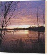 Ottawa River Sunrise Wood Print