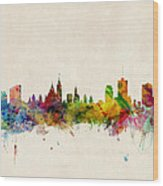 Ottawa Skyline Wood Print by Michael Tompsett