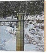 Otter Brook Dam Wood Print