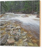 Otter Rocks - White Mountains New Hampshire Usa Wood Print
