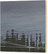 Otter X-ing Wood Print