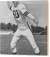 Otto Graham Nfl Legend Poster Wood Print by Gianfranco Weiss